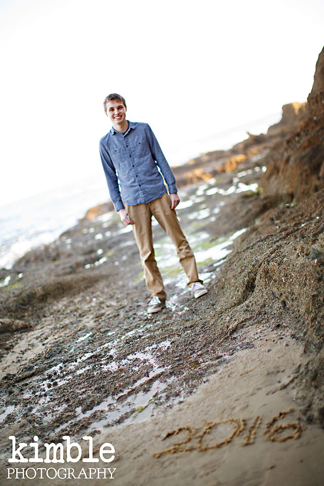 High school graduation portraits at the beach