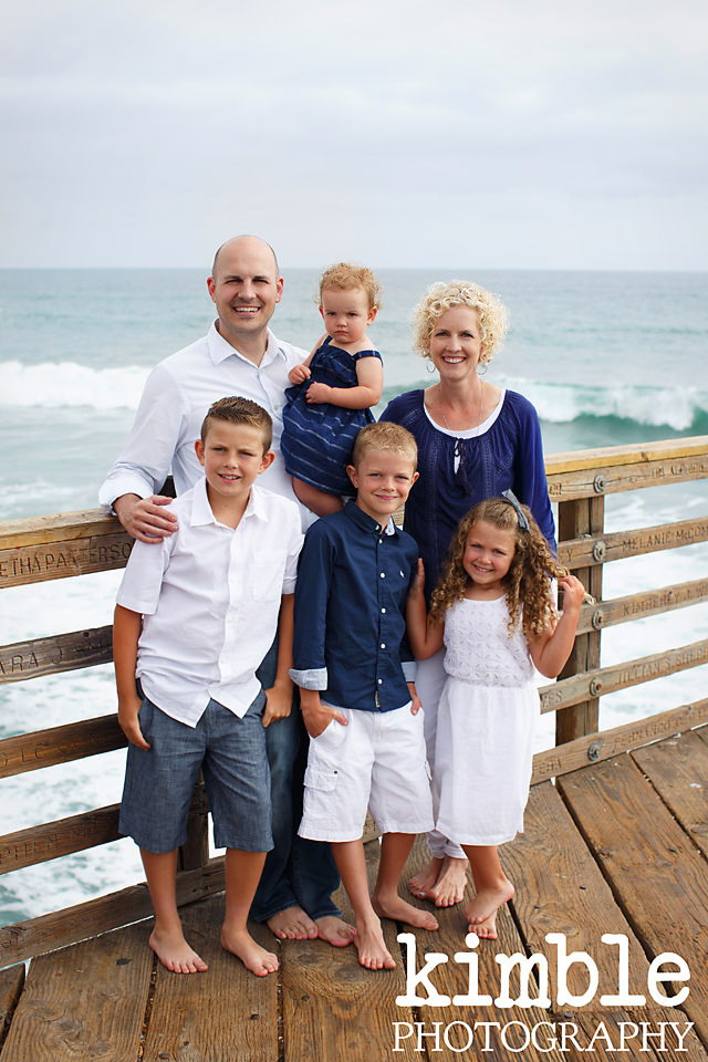Family Portraits at Oceanside Pier