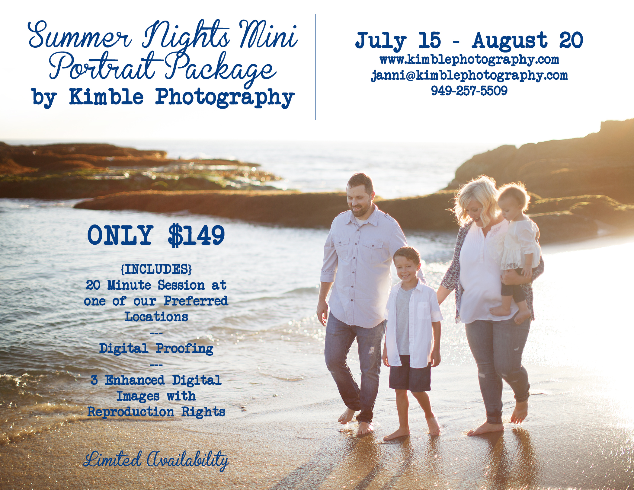 Summer Portrait Package | Kimble Photography